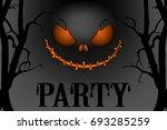 halloween party poster  banner  ... | Shutterstock .eps vector #693285259