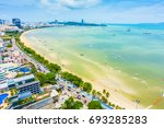 beautiful landscape of pattaya... | Shutterstock . vector #693285283