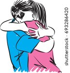 couple man and woman hugging... | Shutterstock .eps vector #693286420