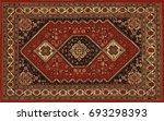 persian carpet  tribal vector... | Shutterstock .eps vector #693298393