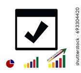 calendar icon  stock vector... | Shutterstock .eps vector #693304420