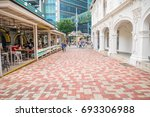 view of emerald hill road with... | Shutterstock . vector #693306988
