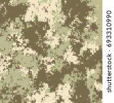 digital pixel camouflage... | Shutterstock .eps vector #693310990