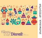 diwali hindu festival greeting... | Shutterstock .eps vector #693314764