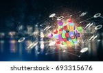 conceptual background image... | Shutterstock . vector #693315676
