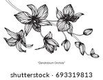 hand drawn and sketch with... | Shutterstock .eps vector #693319813