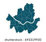 map of seoul   high detailed on ... | Shutterstock .eps vector #693319930
