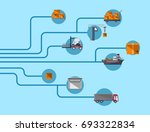 worldwide shipping and moving... | Shutterstock .eps vector #693322834