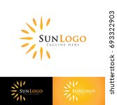 sun logo   Shutterstock .eps vector #693322903