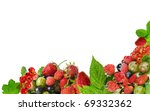 Border Of Fresh Berries...
