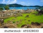 fortifications on the caribbean ... | Shutterstock . vector #693328033