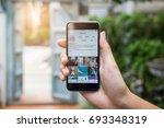 chiang mai  thailand   aug 10 ... | Shutterstock . vector #693348319