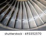 turbine blades   close up | Shutterstock . vector #693352570