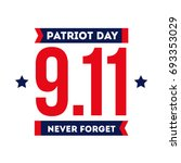 patriot day for remembering 911 ... | Shutterstock .eps vector #693353029