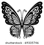 artistic pattern with butterfly ... | Shutterstock .eps vector #69335746