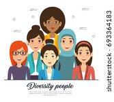 diversity people concept | Shutterstock .eps vector #693364183