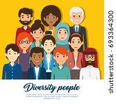 diversity people concept | Shutterstock .eps vector #693364300