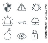 internet security icon set | Shutterstock .eps vector #693369490