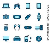 gadget and device icons | Shutterstock .eps vector #693371728