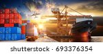 logistics and transportation of ... | Shutterstock . vector #693376354
