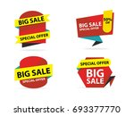 colorful shopping sale banner... | Shutterstock .eps vector #693377770