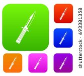 military knife set icon in... | Shutterstock .eps vector #693381358