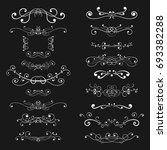 ornaments and decorative... | Shutterstock . vector #693382288