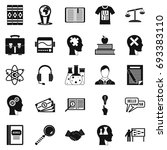 scholarship icons set. simple... | Shutterstock .eps vector #693383110