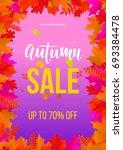 autumn sale poster for...   Shutterstock .eps vector #693384478