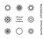 set of abstract circular... | Shutterstock .eps vector #693385258