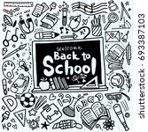 welcome back to school poster... | Shutterstock .eps vector #693387103