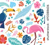 vector seamless pattern with... | Shutterstock .eps vector #693388606