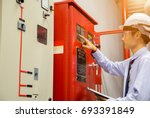 industrial fire control system... | Shutterstock . vector #693391849
