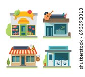 vector flat design restaurant... | Shutterstock .eps vector #693393313