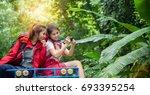 buddy friends traveler are... | Shutterstock . vector #693395254