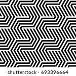the geometric pattern with... | Shutterstock . vector #693396664