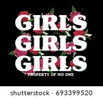 message slogan with  flowers 2   Shutterstock .eps vector #693399520