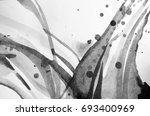 black and white abstract... | Shutterstock . vector #693400969