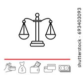 balance  scales  line icon | Shutterstock .eps vector #693403093
