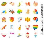 sunshine icons set. cartoon set ... | Shutterstock .eps vector #693404800