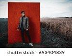 vogue shot. handsome... | Shutterstock . vector #693404839