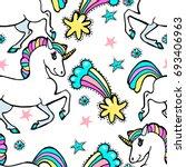 magic unicorns  comets ...   Shutterstock .eps vector #693406963