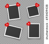 frames of photo pin on red... | Shutterstock .eps vector #693409438
