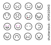set emoticons icons for... | Shutterstock . vector #693410443