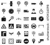 traffic in city icons set.... | Shutterstock .eps vector #693416098