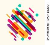 vector   modern hipster style... | Shutterstock .eps vector #693418300