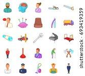 proceedings icons set. cartoon... | Shutterstock .eps vector #693419359