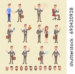 set of business man in... | Shutterstock .eps vector #693420928