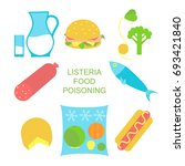 listeria contaminated food... | Shutterstock .eps vector #693421840