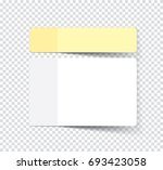 set of sticky stickers with... | Shutterstock .eps vector #693423058